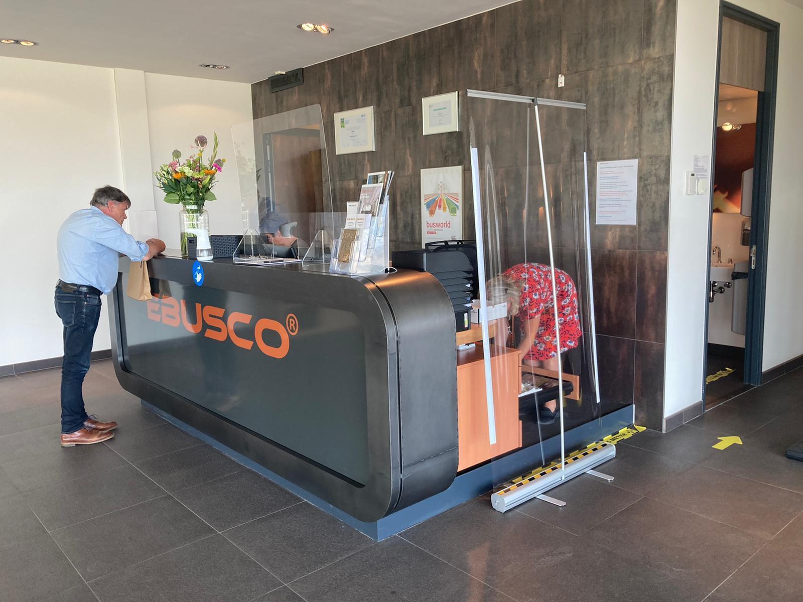 7 Ebusco werkt veilig en richt pand in volgens 1,5 meter richtlijnen 1