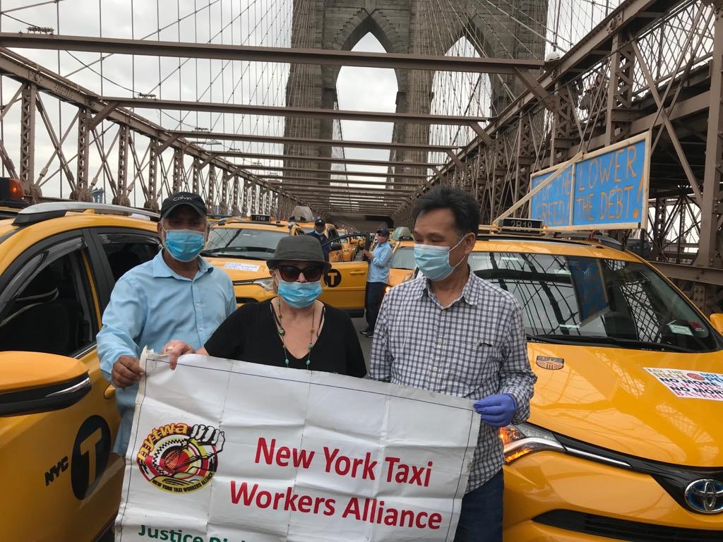 NY taxi demonstratie