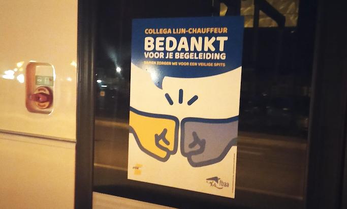 delijn poster on bus